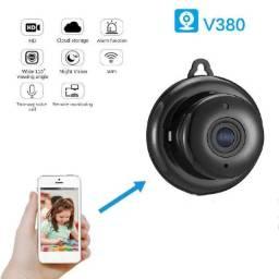 Título do anúncio: Mini Câmera Wifi Hd Infravermelho Visão Noturna 720p v380