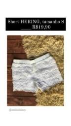 Shorts infantil.