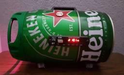 Caixa De Som Barril Heineken 100W rms Com Bateria De 22h.