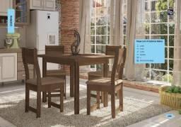 Mesa com 4 cadeiras promoção