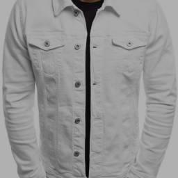 Camisa jeans sarja branca