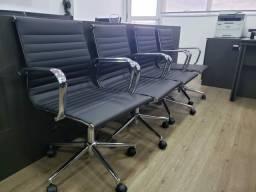 4 Cadeiras de Escritório Eames Sevilha Rivatti alto padrão Campinas-Jundiai-São Paulo<br><br><br>