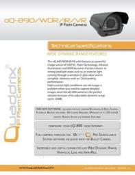 Camera de segurança oQ-890 /WDR/IR/VR - Quaddrix Technologies