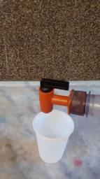 Torneira com tampa para conservar o gás do