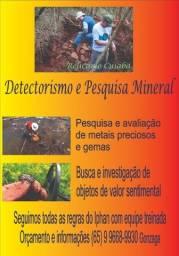 Detectorismo e pesquisa mineral