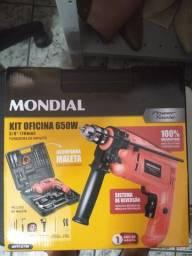 Título do anúncio: Kit furadeira Mondial 650 W nova
