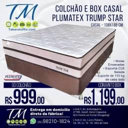 Conjunto  Casal Plumatex  Trump Star 30CM Molas Ensacadas , 12x Sem Juros!
