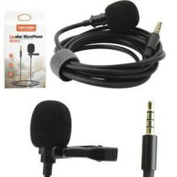 Microfone de Lapela 3.5m HSX-M01  Smartphone Profissional Stereo 1.5m