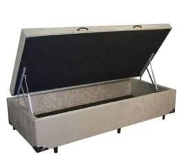 Título do anúncio: Base Box Baú Solteiro com Pistão à gás - 88 x 1,88 x 35 cm - Somos Fabricantes