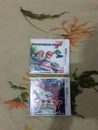 Jogo de Nintendo 3ds Mario kart 7 Pokemon Y leia a descrição