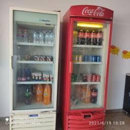 Freezer horizontal, expositor gelado vertical e balcão expositor