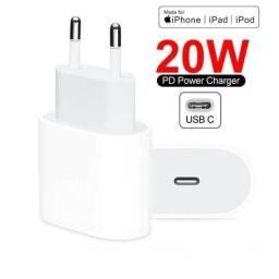 Carregador orignal apple 20w Turbo Usb-c + 1 Metro iPhone XS 11 12 Pro Max