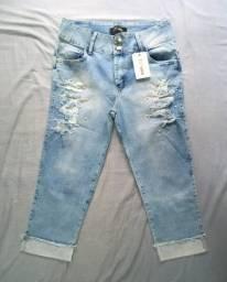 Título do anúncio: Lote com 50 calças jeans femininas