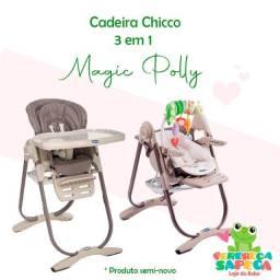 Título do anúncio: Cadeira Chicco 3 em 1 Polly Magic