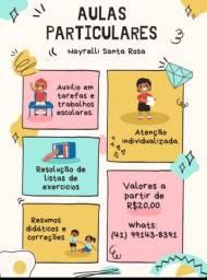 Auxílio nas atividades e trabalhos escolares