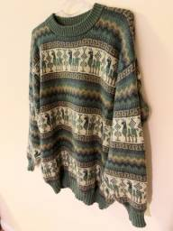 Suéter Lhamas Verde G