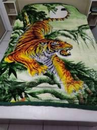Cobertor kamamya grande casal 1,90 x 2,30 tigre quente lindo fofo macio