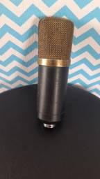 Microfone Condensador - Tipo Samson - ótima qualidade! Troco!