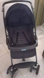 Título do anúncio: Carrinho de Bebê Burigotto AT6 K preto, unissex, pouco tempo de uso. R$: 350,00