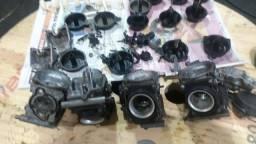 Peças do carburador da Hornet 2008