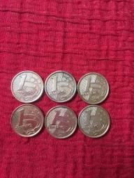 Título do anúncio: Moedas  raras 1 centavo  1999/2000