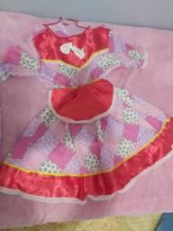 Vestido Junino Infantil Veste 7 a 8