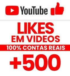 500 likes Video Youtube = Apenas 25 Reais + 200 likes de Brinde = 700 likes