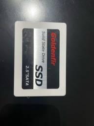 SSD goldenfir 256gb  novo sem uso abri só pra testar