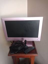 Tv monitor com conversor digital e antena digital