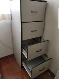 Arquivo 4 gavetas madeira.