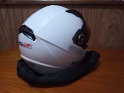 Capacete LS2 branco Tam 54
