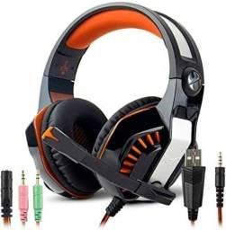 Headset Fone Gamer Knup - cor Laranja
