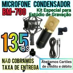 Título do anúncio: Oferta. Novo Microfone Condensador BM-700.  Entrega Gratis