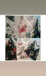 Blusinhas floridas com bordado loja HMmodad