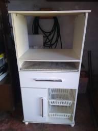 Móvel de cozinha para microondas e forno elétrico