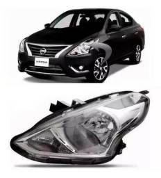 Farol Cromado Nissan Versa 2015 2016 2017 Esquerdo