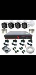 Kit 4 câmeras instalado