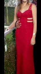 Vestido longo de festa - Vermelho TAM G (usado) negocio o valor