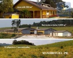 CH0401 - Chácara com 8 dormitórios à venda, 314600 m² por R$ 2.250.000 Chácara auto susten