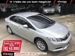 New Civic LXL 1.8 AT 12/12(Raridade 37.000 Km) - 2012