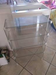 Balcao de vidro 1m X 62cm