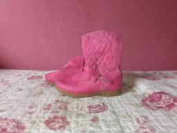 Bota rosa infantil