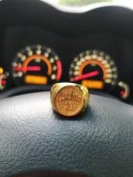 Anel salmo 23 moeda antiga