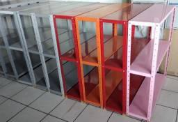 Estante de aço c/ 3 prat 100x 092x025 colorida