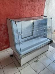Balcão vitrine gelado