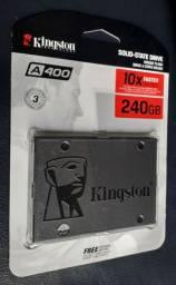 HD SSD 240GB kingston.Novo, lacrado. (10 X Mais rápido).Aceito cartão de crédito