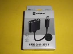 Adaptador tipe c x charging + listen 3.5mm sumerxr