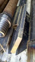 Hastes, astes, perfuração, perfuratriz, poço artesiano, semi artesiano 1.1/2 e broca