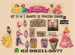 Kit p/ quarto de menina Princesa disney 14 in 1 Ultimas Unidades