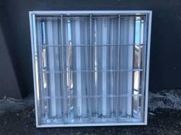 Título do anúncio: Luminária Calha Comercial Modular Aletada 62x62 Embutir